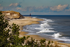 Harbor of Refuge Lighthouse from Herring Pt....6O3A5169A (dklaughman) Tags: lighthouse capehenlopen ocean sand waves beach delaware