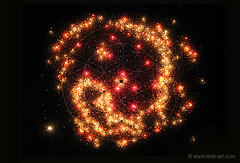Expecting One ◆ V838 Monocerotis ◆ Night light on (muriellesunier) Tags: v838 monocerotis nebulaart art night space light universe birth children yourhubblepictures pregnancy outerspace cosmos expecting leds painting sacredgeometry phosphorescent spirituality zen meditation hubble glowinginthedark
