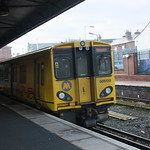 Merseyrail Class 508-138 Stabled in Platform at Rock Ferry Station thumbnail