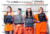 Orange Is The New Black - We all think we're good guys (Rick Nunn) Tags: cosplay project spadge orangeisthenewblack oitnb lineup cops convicts party photobooth cosplaygirls tattos
