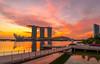 beautiful morning at marina bay (jaywu429) Tags: sony sky skyline singapore sonya7r sonycamera sony1635mmf4 singaporeriver zeiss1635mmf4 sunrise marinabay marinabaysandshotel marinabaysands buildings architecture merlionpark reflections clouds burning julibeebridge bridge morning explore inexplore hdr
