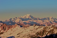 Mont Blanc (james_savage95) Tags: mont blanc mountain sunset three valleys alps france italy pastel pink green view vista travel europe tallest hill valley skiing ski