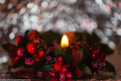 Candle Christmas Bokeh (Chiltern Snappers) Tags: candlelight christmas decoration festive green holidaybokeh macromondays red redfilter tealight
