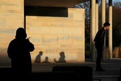Watching - Week 1 (maxjomoore1993) Tags: dogwood2017 dogwood dogwoodweek1 dogwoodstory contrast composition framing canon 5d markii pillars ruleofthirds leadinglines challenge beige black tone enigma shadow people geometry
