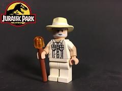 John Hammond (TheBrickBrewer) Tags: painted custom jp park jurassic lego