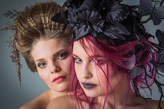 Freeke/Dasha (Bert de Bruin) Tags: beauty beautiful blond beautylooks eyes redhead studio sensual look lovely makeup lips light face angel hair hot harmony headdress portet