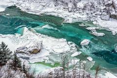 Nenana River Gorge (Magma917818) Tags: healy alaska unitedstates us denali denalinationalpark nationalpark nature snow national river nenana blue winter white