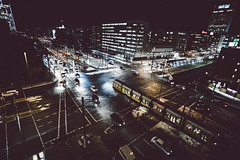(jimh_7) Tags: berlin night train intersection traffic city urban color digital leica 18mm a7rii europe germany lights anthropocene cross busy flickr