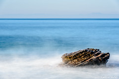 Crystal Cove - Simple Things (www.karltonhuberphotography.com) Tags: 2017 blue californiacoastline crystalcove crystalcovestatepark horivontalimage horizon horizontalimage invigorating island karltonhuber light longexposure mist mystery ocean offshorerock pacificocean pastels peaceful relaxing rock seascape silkywater simplicity simplistic sky smoothwater southerncalifornia