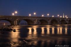 Stars (christian.grelard) Tags: star bridge night pont nuit water eau river fleuve loire loirevalley loircher blois longexposure