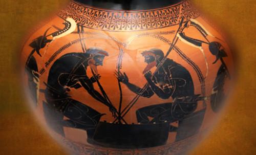 "Petteia - Ludus Latrunculorum  / Iconografía de las civilizaciones helenolatinas • <a style=""font-size:0.8em;"" href=""http://www.flickr.com/photos/30735181@N00/32522204385/"" target=""_blank"">View on Flickr</a>"