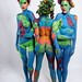 Tropical trio body paint