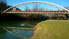 Bridge (only_sepp) Tags: dora riparia riflessi torino parco pellerina cielo ponte fiume