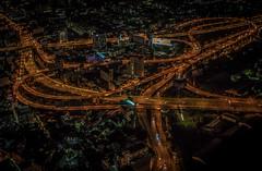 Highway Junction (mcalma68) Tags: bangkok thailand highway night aerial