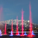 Water and Light Show Fronting Timpanogos [Explore] thumbnail