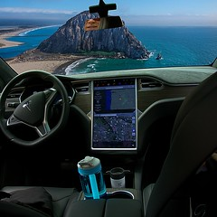 In the Tesla Cockpit (swong95765) Tags: tech technology car cockpit flight automation computer gps antigravity transportation automated