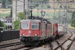 Re 4/4 11343 leads Re 6/6 11679 Cadenazzo through Sissach (daveymills37886) Tags: electric sbb 420 66 class re 44 ffs 620 cff sissach cadenazzo 11343 11679