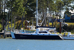 Siena (Images by Jeff - from the sea) Tags: blue boats boat nikon yacht siena tamron bundaberg 2470mm burnettriver d7200 tamronsp2470mmf28divcusd