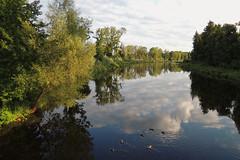 Wertach bei Augsburg (juergen_oh) Tags: natur wolken fluss landschaft augsburg wertach