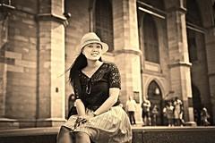 Vintage (herobk13) Tags: hat lady vintage montreal basilica gorgeous notredame explored