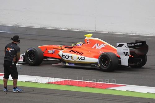 Beitske Visser on the Grid for the Formula Renault 3.5 Saturday Race at Silverstone