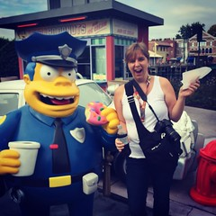 Shared Love of Lard Lad Donuts (awdylanis) Tags: halloween coffee square orlando october florida police simpsons squareformat donut cop springfield universal universalstudios iphone polic universalorlando 2015 chiefwiggam wiggam iphoneography instagram instagramapp xproii uploaded:by=instagram lardladdonut