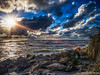 Bright Night (DonMiller_ToGo) Tags: sunset sky nature landscape seascapes florida sunsets beachlife g5 beaches skyscapes hdr goldenhour sunbeams ndfilter skycandy 5xp hdrphotography 5exposures beachphotography sunsetmadness sunsetsniper caspersensbeach