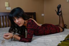 Dariya-7957 (Charleztt) Tags: red girl lady asian erotic dress heels feeling cuffs cuffed