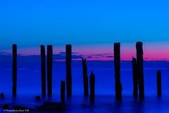 Port Willunga, South Australia Macro Style (Sharon Wills) Tags: sunset seascape beach water landscape sticks southaustralia waterscape portwillunga austrralian jettyruins