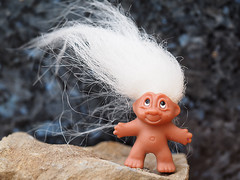 "A windswept original Norse ""Good Luck Troll"" selfie (fstop186) Tags: naked fun toy happy funny doll good joke folklore humour luck windswept troll mythology caption myth scandinavian supernatural norse selfie dontfeedthetroll"