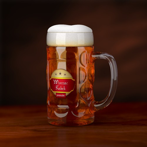 Patterned Beer Mug 3D Model