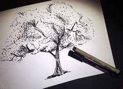 Graphic Tree (Kate_Lokteva) Tags: art sketch drawing sketchbook marker draw markers artworks letraset promarkers