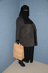 Fat belly under winter coat (Buses,Trains and Fetish) Tags: winter girl warm fat coat under hijab belly niqab blowup slave burka chador