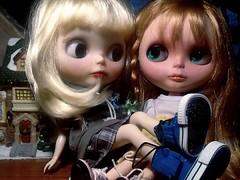 Blythe-a-Day November#12 Sticky Stuff: Real Friends Stick Together