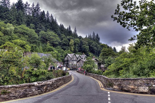 The Small Village of Betws y Coed, North Wales.