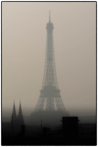 Tower in fog