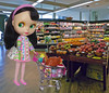 Thanksgiving Grocery  Shopping... (Primrose Princess) Tags: thanksgiving holiday turkey shopping doll groceryshopping dressing blythe grocerystore goldie allgoldinone louisvuitton blythedoll funnybunnydress thanksgiving2015