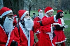 Stockholm Santa Run 2015 (tws8585) Tags: stockholm santa claus run 2015 tantolunden hornstull charity dress outdoor activity beard costume winter sweden fun