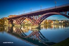 Maribor (malioli) Tags: street city urban reflection canon river town europe place slovenia hdr maribor drava