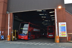 Stagecoach London 19755 LX11BDE (Will Swain) Tags: uk travel november red england bus london buses yard britain garage south greenwich transport group shed east vehicles vehicle depot stagecoach 28th 2015 plumstead 19755 lx11bde