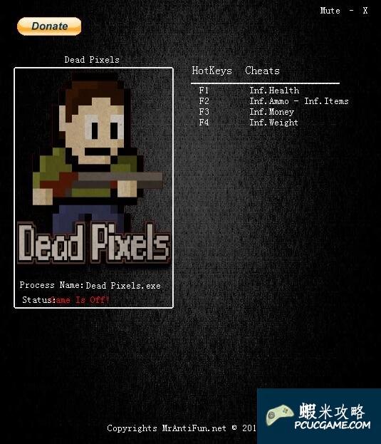 Dead Pixels v1.3.13五項修改器MrAntiFun版