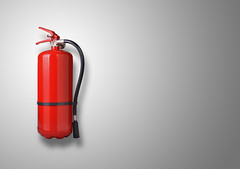 fire extinguisher on gray background (Jessica_PFP) Tags: fire extinguisher firefighter extinguishing emergency pressure cold rubber steel white hose tool red sign foam burned irritation chemical handle security equipment protection flame system wall shiny safety alarm urgency sparks assistance services fumes danger container water rescue heat metal grey isolated afirefightersequipment greybackground background copyspace symbol symbolforfirefighter lightgrey object fireextinguisher