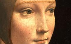 Cecilia's eyes. (Leonardo) (vittorio vida) Tags: leonardo cecilia gallerai art painting portrait woman lady hermelin face eyes mouth nose museum masterpiece vinci