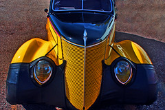 """I'm Batman"" (oybay©) Tags: ford fordmotorcompany sandiego car automobile color colorized whitewalltires whitewall tires angle suicidedoors mercury merc hotrod hot rod flames flamin coolcar classiccar sunset love petermax sideview dramatic colors colorful midnight oasis arizona glendalearizona shining bright craquelure vehicle"