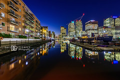 """Illuminating Perspective"" Canary Wharf, London, UK (davidgutierrez.co.uk) Tags: london photography davidgutierrezphotography city art architecture nikond810 nikon urban travel color skyscraper night blue uk canarywharf towerhamlets eastlondon westindiadocks photographer londonphotographer bluehour twilight buildings england unitedkingdom 伦敦 londyn ロンドン 런던 лондон londres londra europe beautiful cityscape davidgutierrez capital structure britain greatbritain d810 street longexposure le landmark ultrawideangle afsnikkor1424mmf28ged 1424mm arts lights colourful vibrant streets road attraction colors colours colour dusk transport water canal residential"