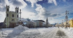 Banská Bystrica (fluxwerk) Tags: banskabystrica winter banska bystrica slovakia slovensko europe namestiesnp snow town slowakei church christmas vianoce sneh zima