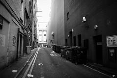 The Back Lane (Brian Travelling) Tags: glasgow city cityscape lane scotland mono blackandwhite pentaxkr pentax pentaxdal