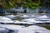 Ice Along the Brown's River (Roshine Photography) Tags: comoxvalley brownsriverfalls winter vancouverisland environmental movingwater frigid cold snow ice comoxstrathconac britishcolumbia canada ca pentaxart icicles landscape water outdoor creek