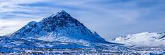 Blue Christmas (Brian Travelling) Tags: winter weather scotland mountains buachaille etive mor glencoe highlands christmas xmas festive season blue snow