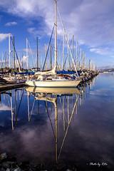 Mirror, Mirror~ (黃毓玲) Tags: lake water reflection california sanfrancisco outdoor sunset boats boat naturepic landscape beautiful colors beach ocean mirror sky travel 舤 戶外 旅行 反射 鏡子 水 海岸 船